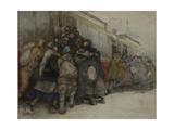 By the Tram, 1920 Giclee Print by Alexander Ivanovich Vakhrameyev