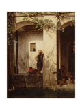 Turkish Children at a Fountain, 1846 Giclee Print by Alexandre Gabriel Decamps