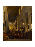 The Pieterskerk in Leiden, 1868 Giclee Print by Johannes Bosboom