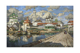 View of an Old Town, 1919 Giclee Print by Konstantin Ivanovich Gorbatov