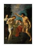 The Baptism of Christ, C.1623 Giclée-tryk af Guido Reni