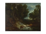 The Watering Place, before 1777 Giclee Print by Thomas Gainsborough