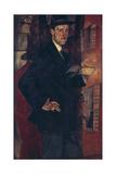 Portrait of the Artist Mstislav Dobuzhinsky (1875-195), 1917 Giclee Print by Boris Dmitryevich Grigoriev