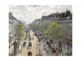 Boulevard Montmartre, Spring, 1897 Giclee Print by Camille Pissarro