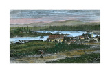 View of the Western Suburbs of Victoria, Vancouver Island, British Columbia, Canada, C1880 Giclee Print