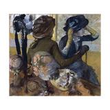 At the Milliner'S, 1882 Giclée-tryk af Edgar Degas