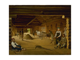 Threshing Barn, 1823 Giclee Print by Alexei Gavrilovich Venetsianov