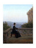 Woman on the Balcony, 1824 Giclee Print by Carl Gustav Carus