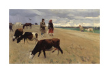 On the Stubblefield, 1896 Giclee Print by Sergei Arsenyevich Vinogradov