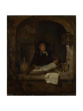 An Old Woman with a Book, C. 1660 Giclee Print by Gabriel Metsu