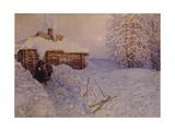 Banya in Winter, 1919 Giclee Print by Appolinari Mikhaylovich Vasnetsov