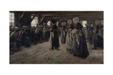The Flax Barn at Laren, 1887 Giclee Print by Max Liebermann