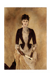 Portrait of Isabella Reisser, 1885 Giclee Print by Anton Romako