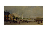 Bolshoy Kamenny Bridge in Moscow Giclee Print by Pyotr Petrovich Vereshchagin