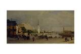 Bolshoy Kamenny Bridge in Moscow Giclee Print by Pyotr Petrovich Vereshchagin