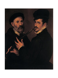 Double Portrait of Musicians, 1579 Giclee Print by Bartolomeo Passerotti
