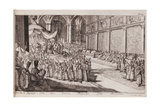 A Scene at the Royal Court of Tsar Alexis Mikhailovich, 1677 Giclee Print by Romeyn De Hooghe