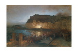 Fireworks in Naples, 1875 Giclee Print by Oswald Achenbach