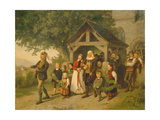The Golden Wedding, 1857 Giclee Print by  Salentin