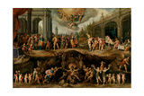 Man Having to Choose Between the Virtues and Vices, 1635 Giclée-Druck von Frans Francken the Younger