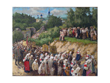 Cross Procession at the Pskovo-Pechersky Dormition Monastery Giclee Print