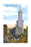 The L.C. Smith Tower, Seattle, U.S.A., C1910S Giclee Print by  Curtis & Miller