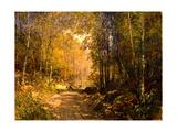 Forest Lane Near Schärfling, 1890 Giclee Print by Emil Jakob Schindler