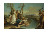The Finding of Moses, after 1740 Giclee Print by Francesco Zugno