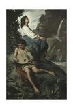 Ricordo Di Tivoli, 1866-1867 Giclee Print by Anselm Feuerbach