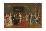 Catherine De 'Medici Meets Her Sons Charles IX and Henry III Giclee Print by Wladyslaw Bakalowicz
