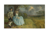 Mr and Mrs Andrews, 1750 Giclee Print by Thomas Gainsborough