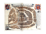 Map of Moscow, 1572 Giclee Print by Georg Braun