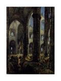 Gothic Church Ruins, 1826 Giclee Print by Carl Blechen