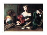 Martha and Mary Magdalene, C. 1598 Giclee Print by  Caravaggio