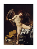 Cupid as Victor, Ca 1601 Giclee Print by  Caravaggio