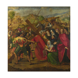 The Procession to Calvary, C. 1505 Giclée-tryk af Ridolfo Ghirlandaio