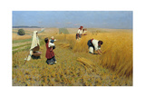 Harvest in Ukraine, 1886 Giclee Print by Nikolai Kornilovich Pimonenko