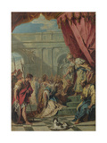 Esther before Ahasuerus, Ca 1730 Giclee Print by Sebastiano Ricci