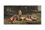 Rest at the Hay Harvest, 1887 Giclee Print by Firs Sergeevich Zhuravlev