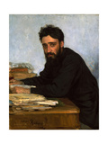 Portrait of the Author Vsevolod M. Garshin (1855-188), 1880S Giclee Print by Ilya Yefimovich Repin