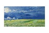 Wheatfield under Thunderclouds, 1890 Impressão giclée por Vincent van Gogh
