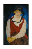 Portrait of the Artist's Wife, 1917 Giclee Print by Boris Dmitryevich Grigoriev