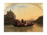 Crossing at Schreckenstein, 1837 Giclee Print by Adrian Ludwig Richter