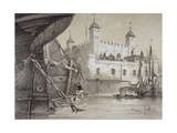 Tower of London, C1840 Giclee Print by Edmund Patten