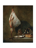 Still Life with Cat and Rayfish Giclee Print by Jean-Baptiste Siméon Chardin