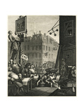 Beer Street and Gin Lane 1, 1751 Giclee Print by William Hogarth
