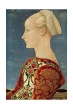 Profile Portrait of a Young Lady, 1465 Giclee Print by Antonio Pollaiuolo