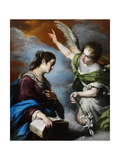 The Annunciation, C. 1644 Giclee Print by Bernardo Strozzi