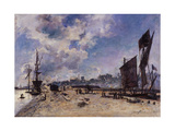 Quay at Honfleur Giclee Print by Johan Barthold Jongkind