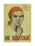 Do Not Chat!, 1941 Giclee Print by Nina Nikolayevna Vatolina